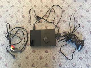 Ps2 console with controller and memory card PlayStation