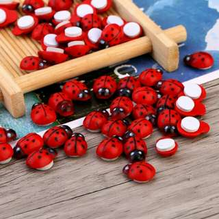 100pcs/lot Ladybug Sticker Creative Kids Home Decoration