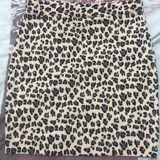 Animal print pencil Skirt - fits Small to medium