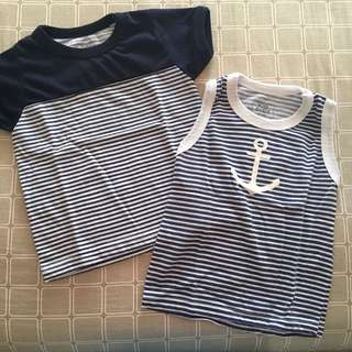 Stripey Shirt & Sando Bundle