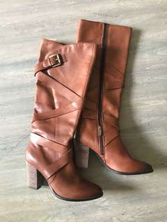 Brown pulp noir boots