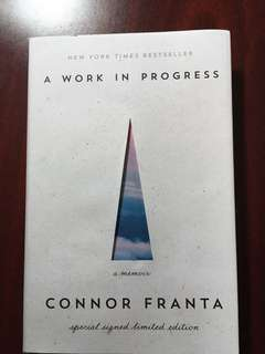 Connor Franta A Work in Progress signed hardcover book