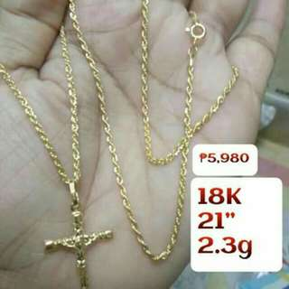 RESTOCKED! ONHAND! 18K SDGOLD CROSS