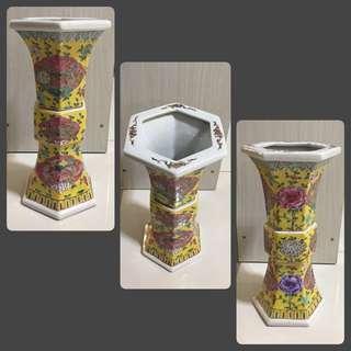 Vintage Peranakan Tall Vase