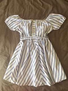 Pin stripped dress from Mirrou