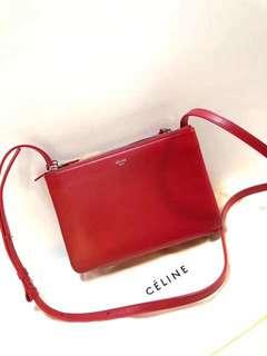 ✝️ Celine 紅/墨绿色 23x15cm❤️❤️