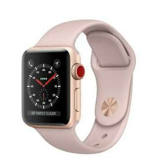 Kredit apple watch seri 3 42MM Rose proses mudah.