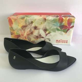 🚚 Melissa 香香鞋 巴西尺寸33/34,37,38(Mel 設計師款 露指尖頭涼鞋/娃娃鞋-黑色)