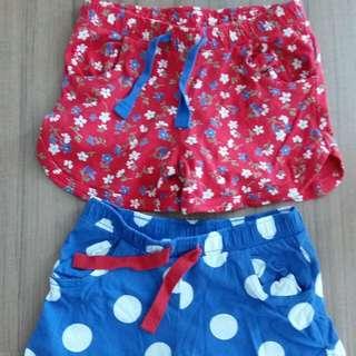 Mothercare girls shorts 5yo