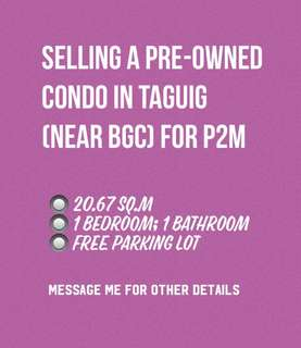 20.67sq.m Pre-Owned Condo for Sale
