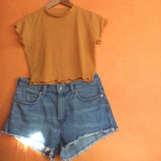 2@180 Lettuce cropped shirt