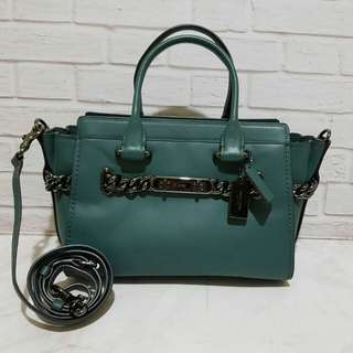 Coach Swagger 27 Chain Dark Turquoise