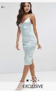 CLUB L Satin Midi Dress