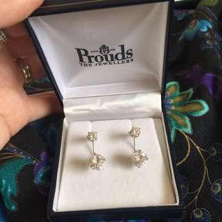 Sterling silver cubic zirconia earrings PRICE DROP