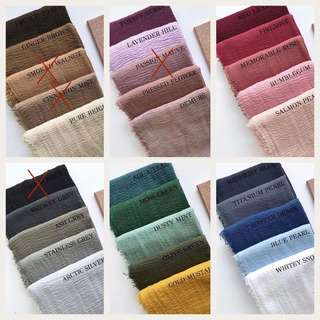 Instock Arab crumbled cotton shawl scarves hijab