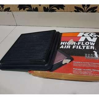 Filter udara KN&N original mobil pajero sport/dakar 2009-2014