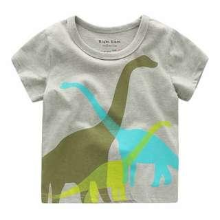 🚚 [現貨]130cm三色恐龍短T