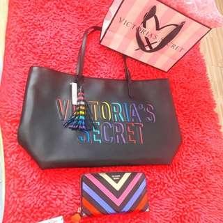 💯Authentic victoria secret tote bag and wallet
