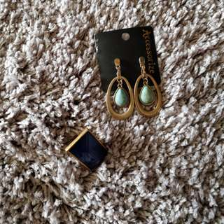 Aldo Ring and Accessorize Dangling Earrings