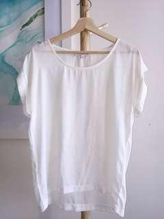 Showpo slouchy white blouse size 6