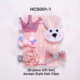 Korean Style Mini Hair Clips (5-pc gift set)