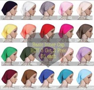 Instock 3+2 Basic Inner Cap < Hijab Inner Cap ninja >