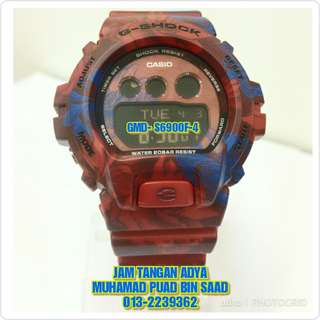 G-SHOCK GMD-S6900F-4 RED FLORAL
