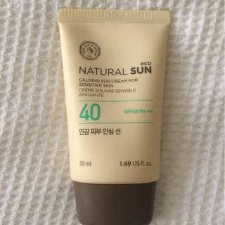 The Face Shop Natural Sun Calming Sun Cream for Sensitive Skin