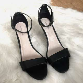 Worn once - little black heels