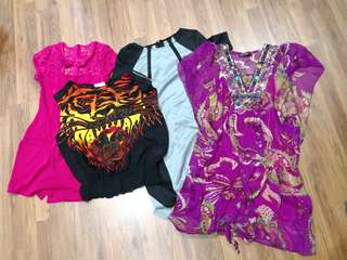 All 7 pieces for RM25, M size, for height 168cm, waist 28cm and burst 34B to C