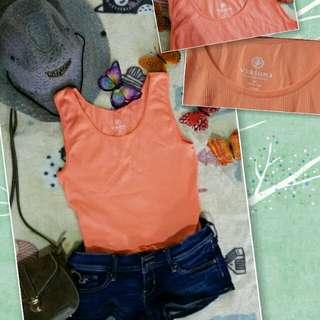 Versona Sleeveless top(pastel orange)