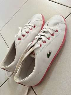 Lacoste White/Pink Sneakers