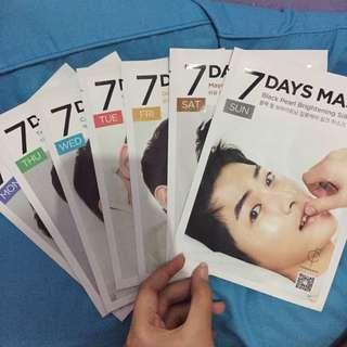 Forencos 7 Days Mask Song Jong Ki
