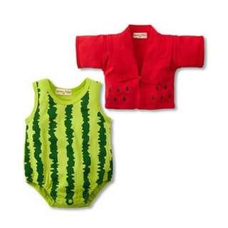 Watermelon Baby Costume Romper Set