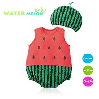 Watermelon Baby Costume Romper