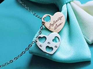 心心相印經典款式可免費刻字💎鑽石18k金白金頸鏈🎁情人節女朋友生日母親節禮物推薦