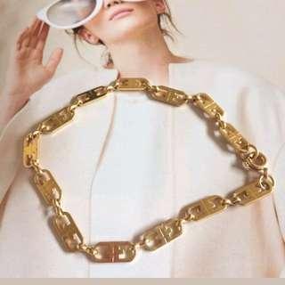 Elegant Italian Style chainlink gold plated bracelet