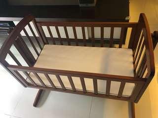 Swinging baby cot - pure teak wood-custom made