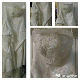 小拖尾婚紗