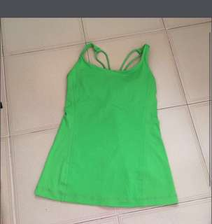 Lululemon Free To Be tank - Frond (green)