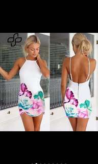 Backless bodycon dress with sizes