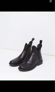 RAG AND BONE LEATHER CHELSEA BOOTS 39.5