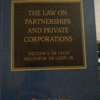 Law on Partnership and Corp.