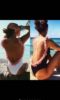 Full floral bodysui/one piece swimsuit