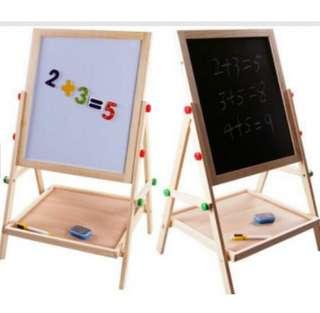 2 in 1 (blackboard whiteboard) children educational easel