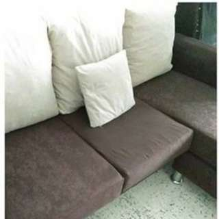 SOFA L-SHAPE [BROWN]