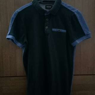 Men's Collar  Fit Shirt Black Blue Sytle Fashion
