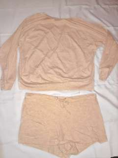 American Apparel Two-Piece Set (cream colour)