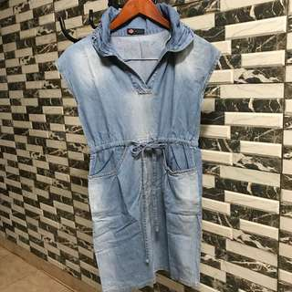 DENIM SHORT DRESS