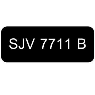 Car Number Plate for Sale: SJV 7711 B